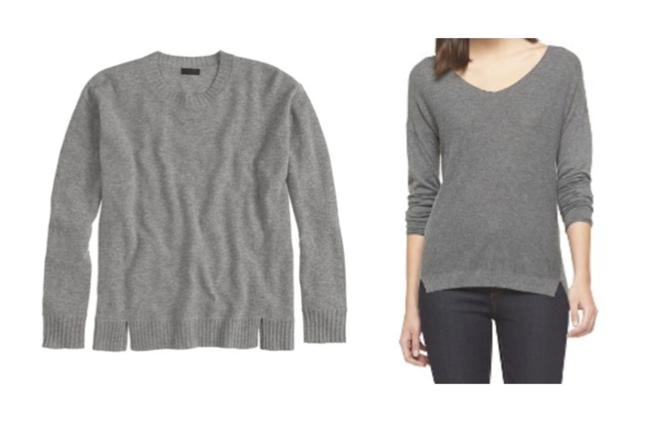 Look for Less: Cashmere Sweater